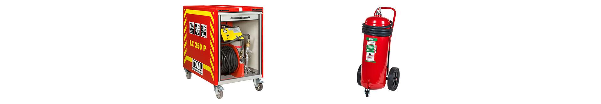 Fahrbare Feuerlöscher und Löschcontainer